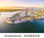 an aerial view of paradise... | Shutterstock . vector #561869218