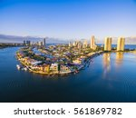an aerial view of paradise... | Shutterstock . vector #561869782