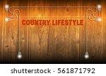 vector abstract wooden... | Shutterstock .eps vector #561871792