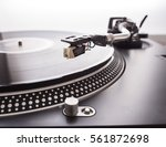 turntable tone arm and... | Shutterstock . vector #561872698