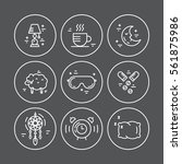 collection of vector line icons ... | Shutterstock .eps vector #561875986