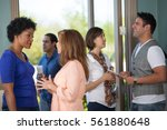 A Group Of People Networking I...
