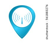 vector tag wi fi at the map blue | Shutterstock .eps vector #561883276
