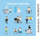 the daily routine. life... | Shutterstock . vector #561883495