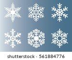 snowflake vector icon... | Shutterstock .eps vector #561884776