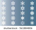 snowflake vector icon... | Shutterstock .eps vector #561884806