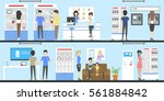 phone store interior set.... | Shutterstock .eps vector #561884842
