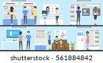 phone store interior set.... | Shutterstock .eps vector #561884842