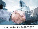 double exposure of... | Shutterstock . vector #561889225
