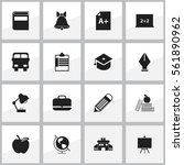 set of 16 knowledge icons....