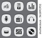 set of 9 sound icons. includes...