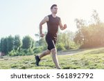 Fit Man Running Outdoor In...