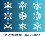 snowflake vector icon... | Shutterstock .eps vector #561895546