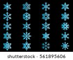 snowflake vector icon... | Shutterstock .eps vector #561895606