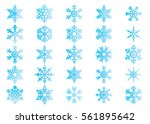 snowflake vector icon... | Shutterstock .eps vector #561895642