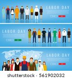 people of different occupations.... | Shutterstock .eps vector #561902032