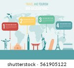 travel and tourism. infographic ... | Shutterstock .eps vector #561905122