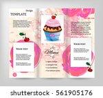 template design  flyer with... | Shutterstock .eps vector #561905176