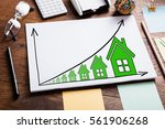 high angle view of diagram of... | Shutterstock . vector #561906268