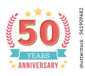 50 years anniversary emblem... | Shutterstock .eps vector #561909682