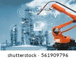 industry 4.0 concept  smart... | Shutterstock . vector #561909796