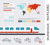 transportation infographic.... | Shutterstock .eps vector #561912082