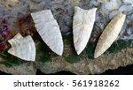 paleo midwestern arrowheads... | Shutterstock . vector #561918262