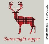 burns night supper. deer on... | Shutterstock .eps vector #561920632