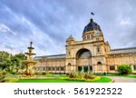 the royal exhibition building ... | Shutterstock . vector #561922522