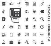 vector fax icon on the white... | Shutterstock .eps vector #561924352