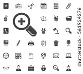 zoom in icon on the white... | Shutterstock .eps vector #561924376