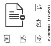 remove document icon on the... | Shutterstock .eps vector #561929056