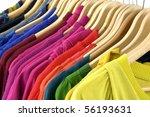 colorful shirt rack on white | Shutterstock . vector #56193631