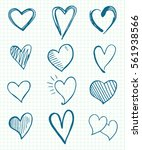 heart icons set | Shutterstock .eps vector #561938566