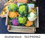 Colorful Cauliflowers In The...