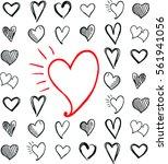 heart icons set   Shutterstock .eps vector #561941056