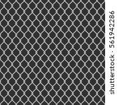 seamless metal chain link fence ... | Shutterstock .eps vector #561942286