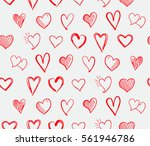 seamless heart icons  and... | Shutterstock .eps vector #561946786
