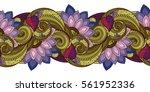 vector seamless floral pattern. ... | Shutterstock .eps vector #561952336