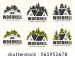 vector logo design of a trees... | Shutterstock .eps vector #561952678