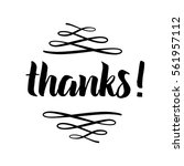 thank you phrase for social... | Shutterstock .eps vector #561957112