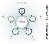 vector infographics  3d paper... | Shutterstock .eps vector #561960088