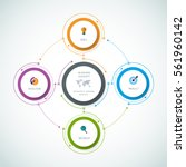 vector infographics templates... | Shutterstock .eps vector #561960142