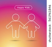 happy kids icon in trendy flat... | Shutterstock .eps vector #561961846