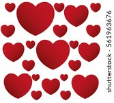 red hearts love valentine... | Shutterstock .eps vector #561963676