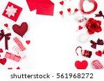 valentine frame red decoration