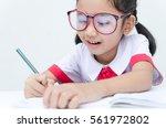 close up shot of asian little... | Shutterstock . vector #561972802