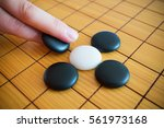go game or weiqi  chinese board ...   Shutterstock . vector #561973168