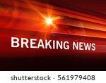 graphical breaking news... | Shutterstock . vector #561979408