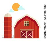Illustration Of Isolated  Barn...